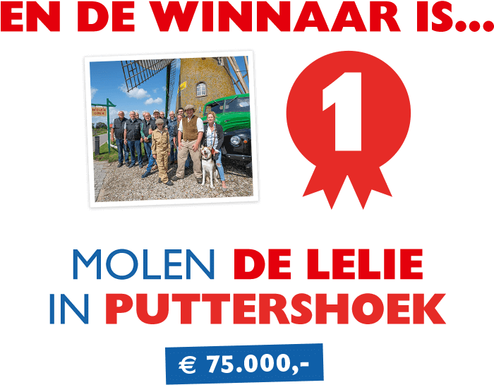 En de winnaar is... Molen De Lelie in Puttershoek